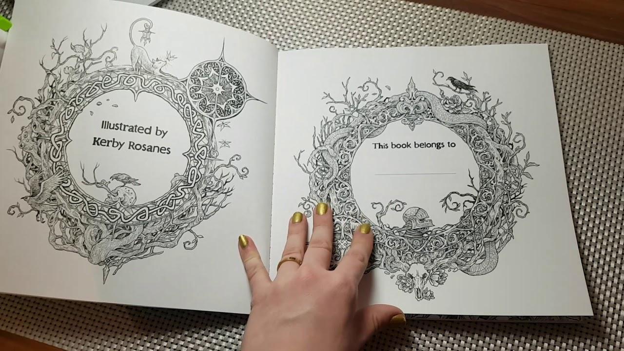 kerby rosanes fantomorphia coloring book youtube