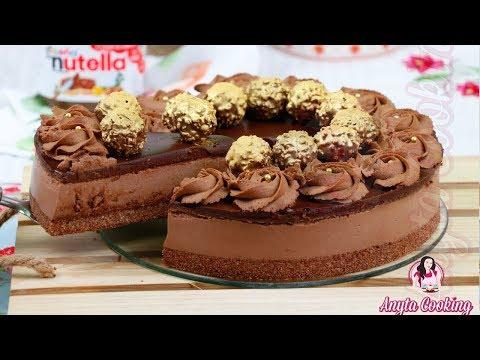 Tort Ferrero Rocher si Nutella fara coacere | Anyta Cooking