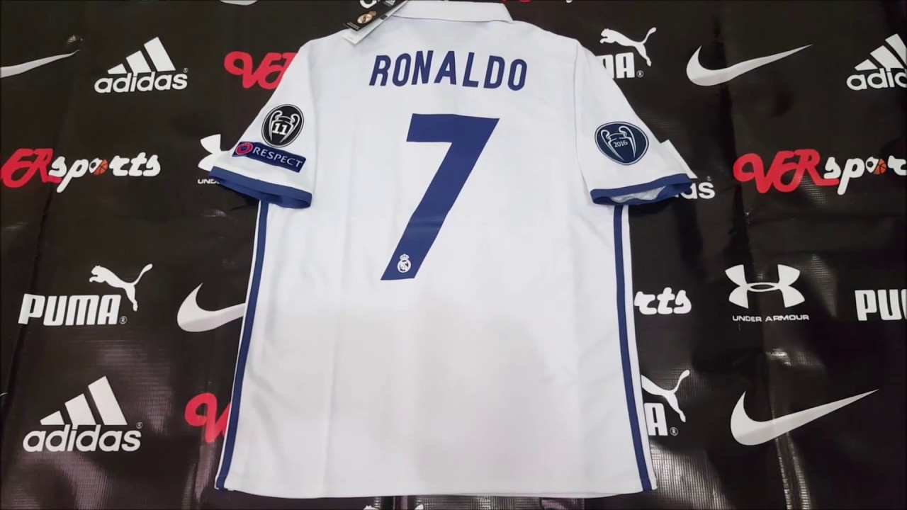 Unboxing jersey Real Madrid 16 17 local Climacool - VRsports d11825dedfc0d