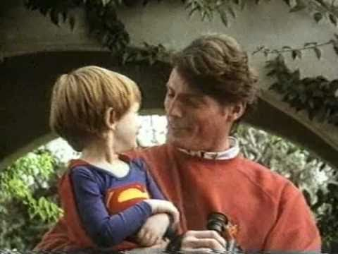 Christopher Reeve SUPERMAN commercial (1989)