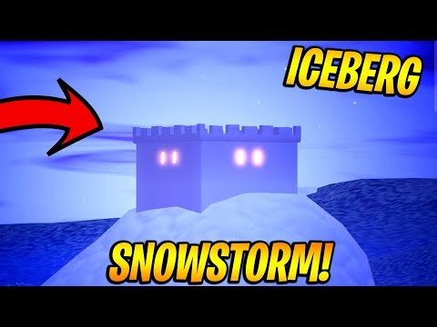 I Went To The ICEBERG In The SNOW STORM Of Fortnite!