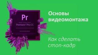 17 урок Как сделать стоп кадр в Adobe Premiere Pro