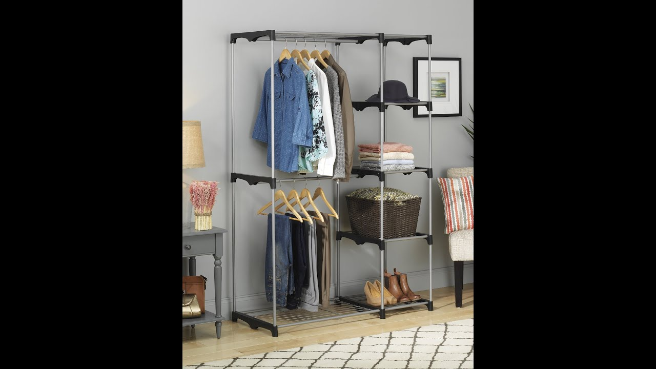 Review: Whitmor 6779 3044 Double Rod Closet, Silver   YouTube