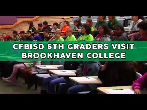 CFBISD 5th Graders Visit Brookhaven College
