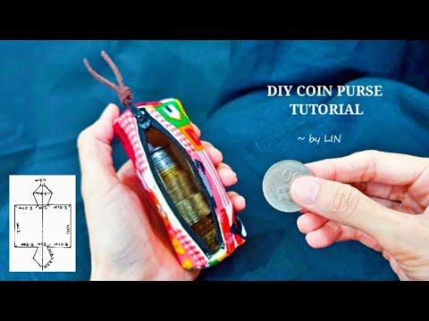 Fabric scraps idea ‖ DIY COIN PURSE TUTORIAL ~Easy sewing  #HandyMum