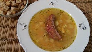 Гороховый суп с копчеными ребрышками пошаговый рецепт