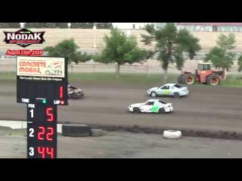 Nodak Speedway IMCA Sport Compact Races (8/25/19)