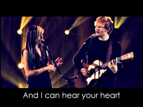 All Of This Stars - Ed Sheeran ft. Christina Grimmie (lyrics on the screen)