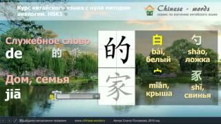 """4 урок. Частица """"的"""" и отрицание в китайском языке."""