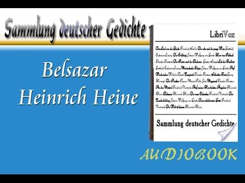 Belsazar Heinrich Heine Hörbuch Sammlung Deutscher Gedichte Audiobook