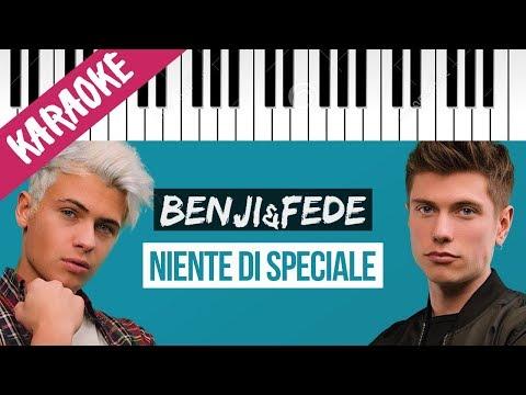 Benji & Fede   Niente Di Speciale // Piano Karaoke con Testo