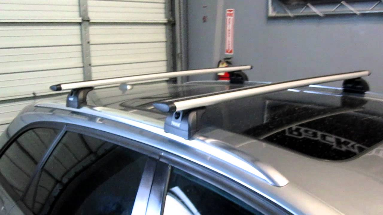 audi a4 avant with thule 460r aeroblade base roof rack by rack outfitters