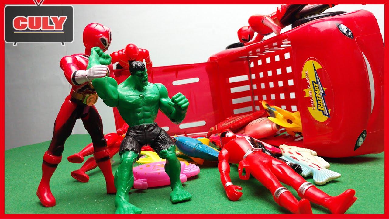 Khổng lồ xanh Hulk đánh siêu nhân gao, siêu nhân thần kiếm buôn lậu bán cá