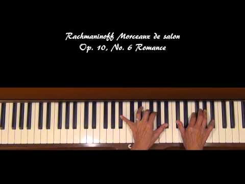 Rachmaninoff Romance Op. 10, No. 6 Piano Tutorial