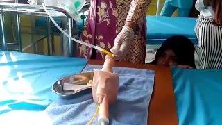Pemasangan Kateter SMK Kesehatan Negeri 6 langsa