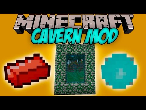CAVERN MOD - Las dimensiones mas Curiosas de Minecraft! - Minecraft mod 1.9 Review