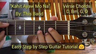 Kahit Ayaw Mo Na - This Band (Guitar Tutorial)