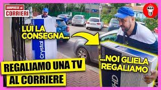 Ordiniamo una TV 4k e la Regaliamo al Corriere che ce la Consegna - [Sorprese ai Corrieri] - theShow