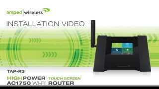 amped wireless setup tap r3 high power touch screen ac1750 wi fi router