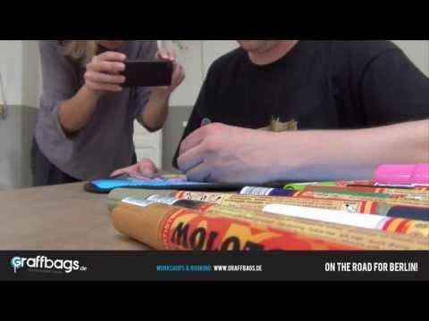 Graffbags Taschen-Workshop, Graffiti-Taschen | Berlin - Barcelona