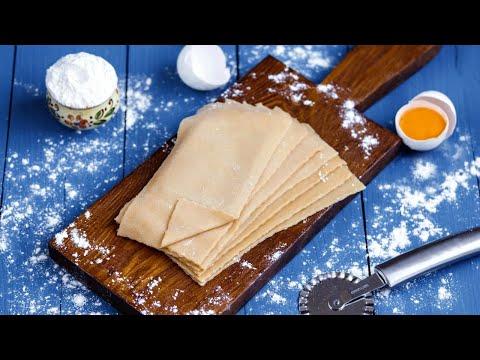Тесто для лазаньи рецепт в домашних условиях с фото
