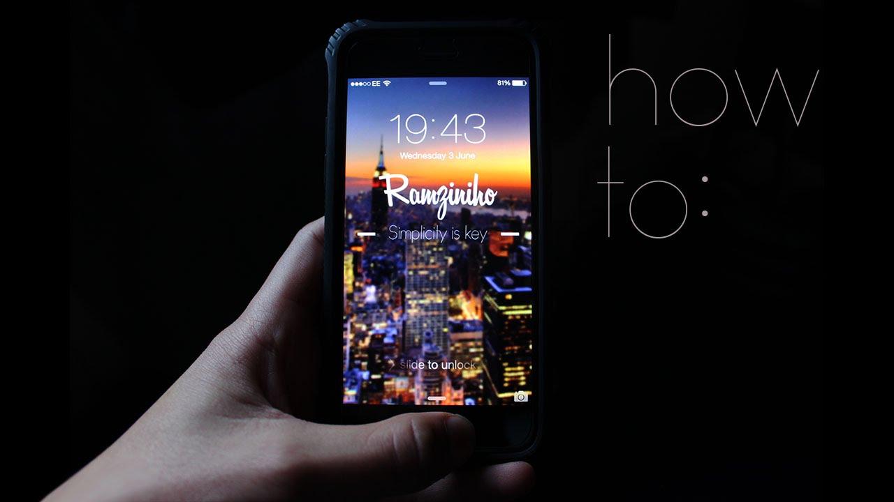 How To Create A Custom IPhone Wallpaper TUTORIAL