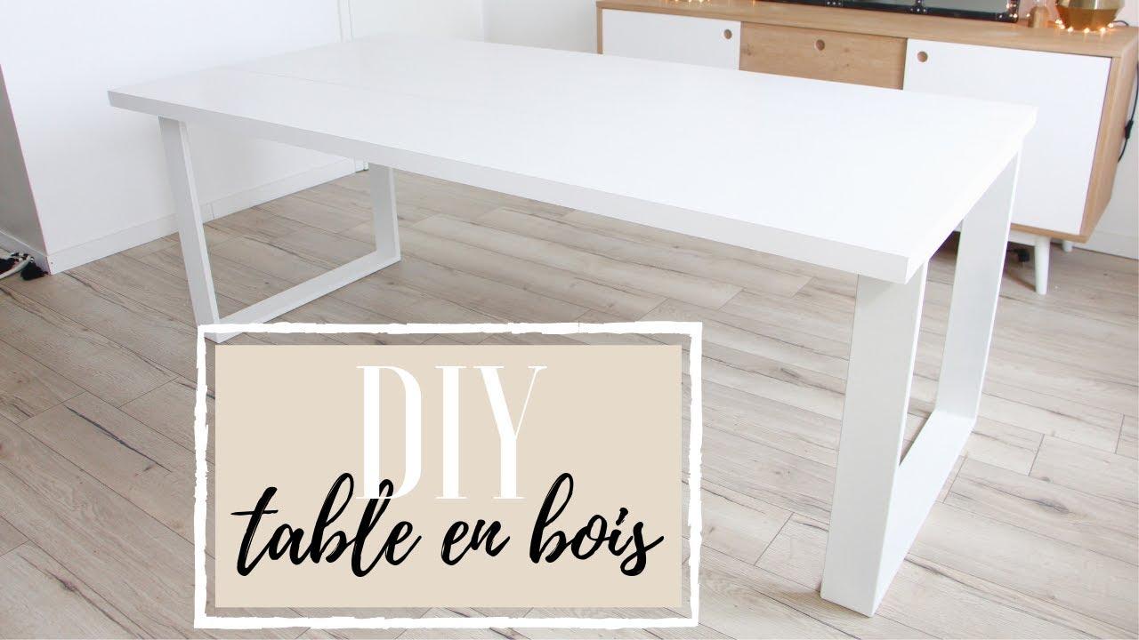 Diy Fabriquer Une Table En Bois Youtube