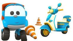 Lasten animaatio suomeksi. Kuormuri Leo ja potkulauta. Animaatioautot pienille lapsille.