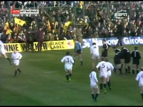 Rugby Union: 1979  New Zealand All Blacks vs Scotland (highlights)