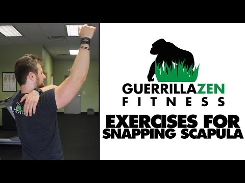 Exercises For Snapping Scapula   Shoulder Blade Control