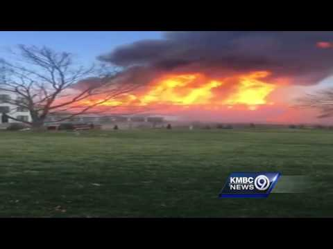 Close-up: See the massive 8-alarm fire in Overland Park from the ground