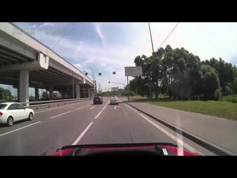 Заезд в автосервис «Технолайн» с внешней стороны мкад (летняя версия)