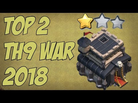 Top 2 Best TH9 War Bases 2018 | TH9 Defense Base | Town Hall 9 War Base | Clash of Clans