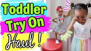 This Young Lady is a STAR! Toddler Try On Haul | Rymingtahn's Real Life