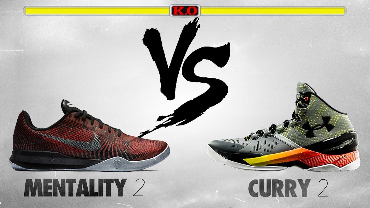 Nike Kobe Mentality 2 vs Under Armour Curry 2!