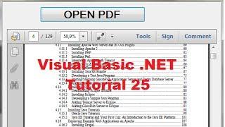 Visual Basic .صافي التعليمي 25 - كيفية فتح و عرض ملف PDF داخل VB.NET شكل