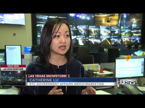NDOT monitoring road conditions during Las Vegas winter weather