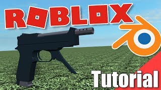 How to make a low poly gun in Roblox from Blender!