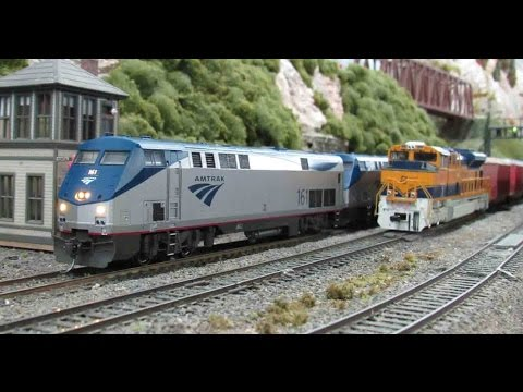 Amtrak Southwest Chief Running at the Palm Beach Model Railroad Club