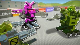 robot mech battle brick rigs multiplayer gameplay robot battle workshop creations