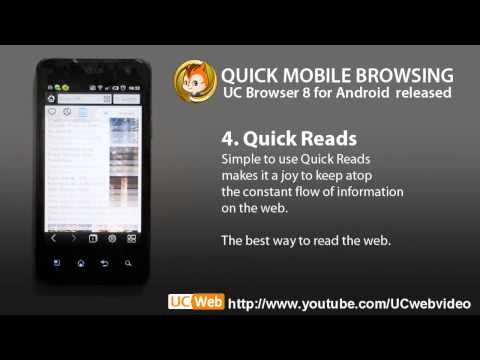 Quick Mobile Browsing,UC Browser 8 For Android Final Version Released.