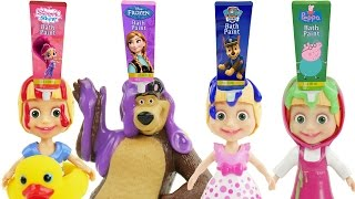 Play Doh Surprise Eggs Ice Cream Learn Colors Kids Masha And The Bear Finger Family Nursey Rhymes