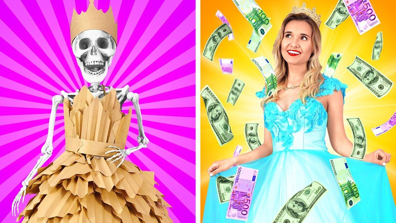 富貴 VS 貧窮 || 不受歡迎的富貴公主 vs 很受歡迎的貧窮公主 by 123 GO! SCHOOL