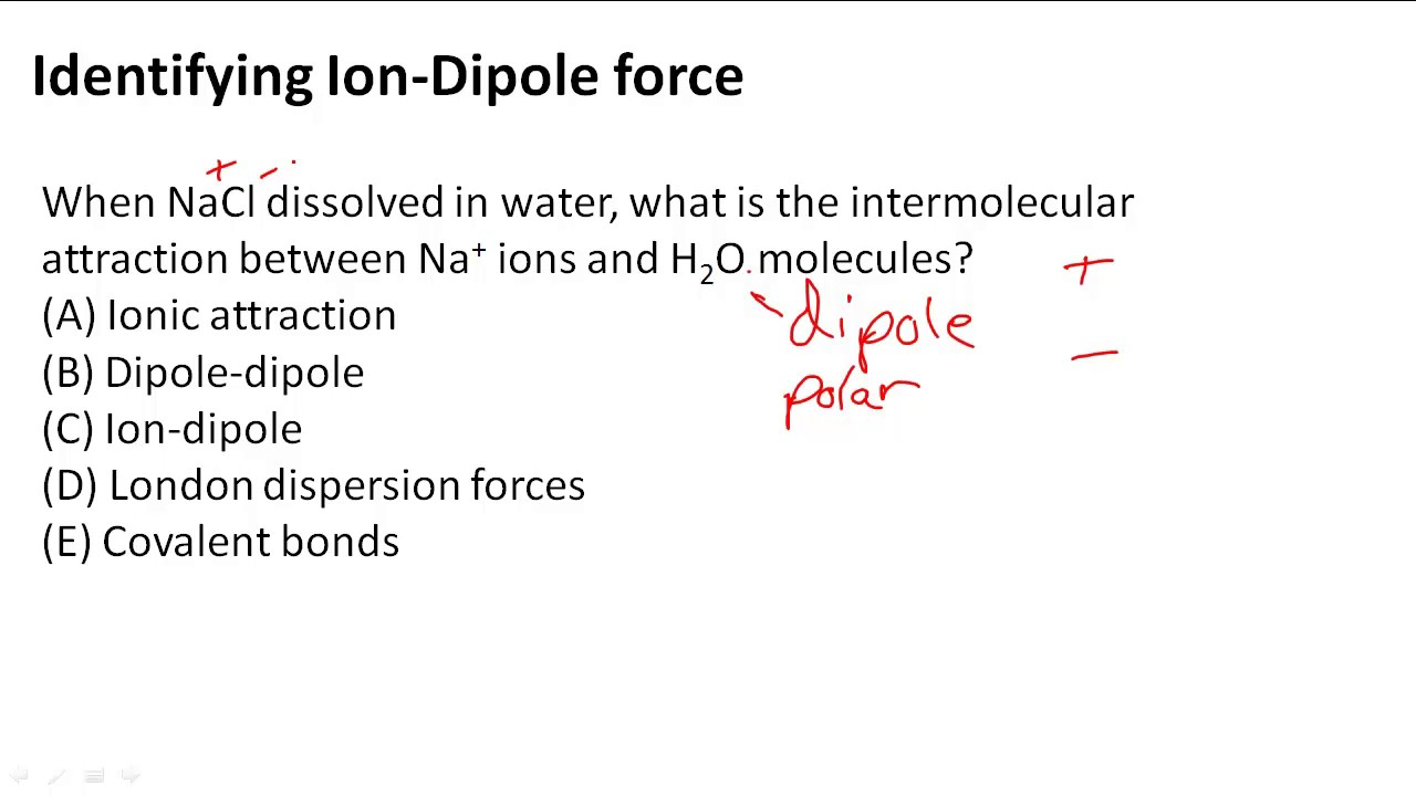 Identifying Ion Dipole Force Youtube