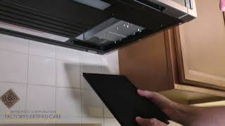 How to change the grease and charcoal filter on your microwave http://www.whirlpool.com/support/ ...