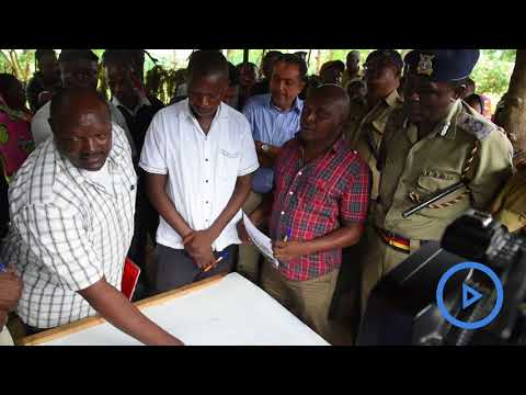 Mombasa police bosses join hands to settle land dispute in Maganda area of Miritini