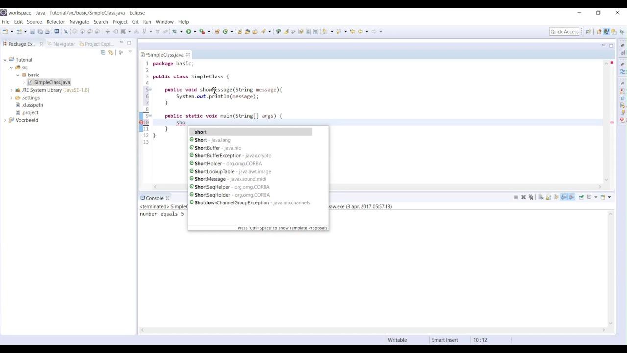 Java tutorial 6 how to write a method youtube java tutorial 6 how to write a method baditri Images