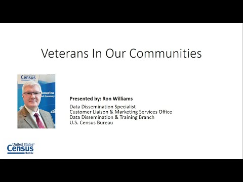 Census Academy Webinar Series: Veterans In Our Communities