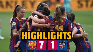 ⚽ GOALS GALORE ALERT! 🚨 HIGHLIGHTS | Barça Women 7-1 Levante