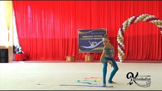 Viktoriia Onopriienko Ribbon AA - Ukrainian Championships 2021 (May)
